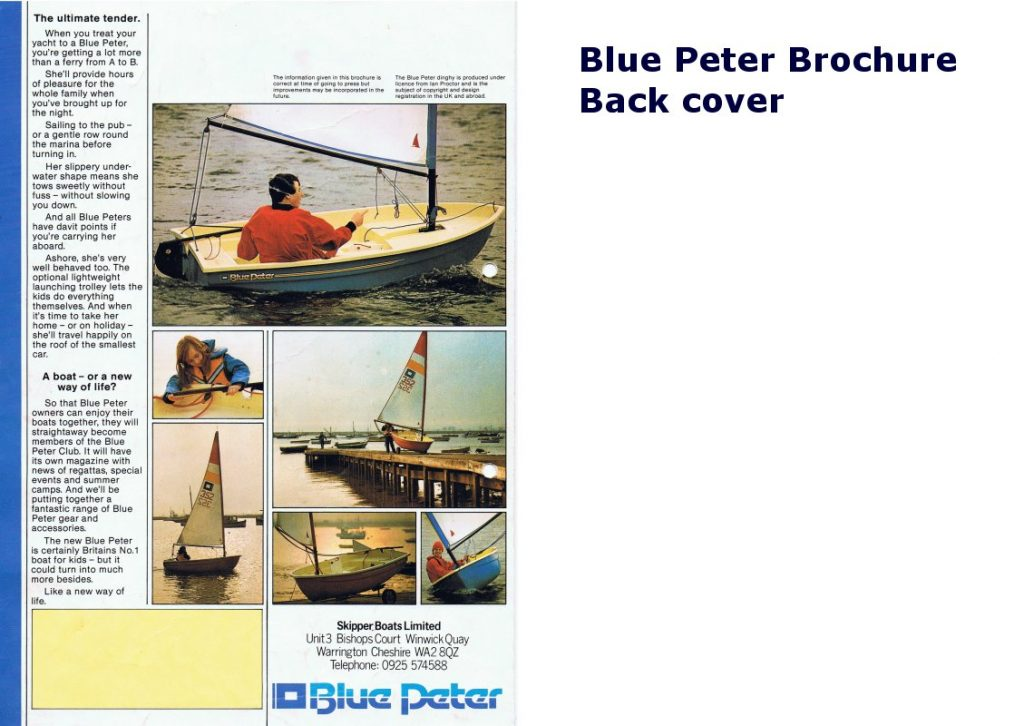 Blue Peter Brochure 3/3